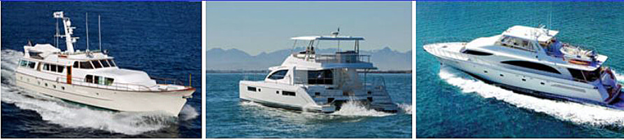 Charter yachts, Motoryachts, Power boats, Brochures, Rates, Prices, Yacht Charters