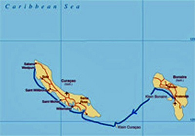 map bonaire curacao
