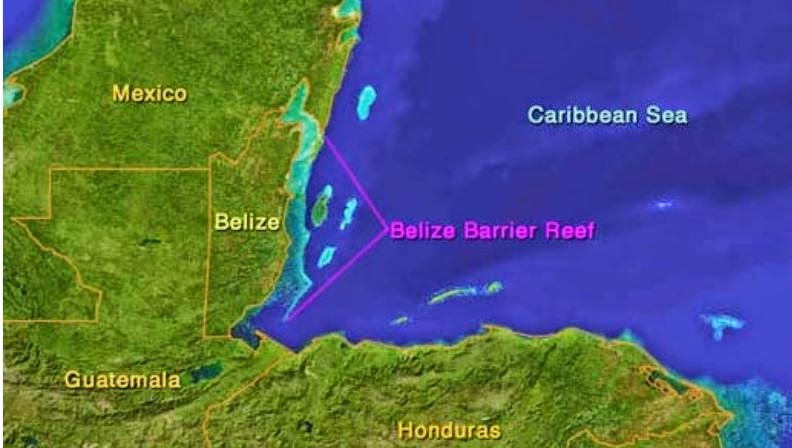 belize yacht charter map