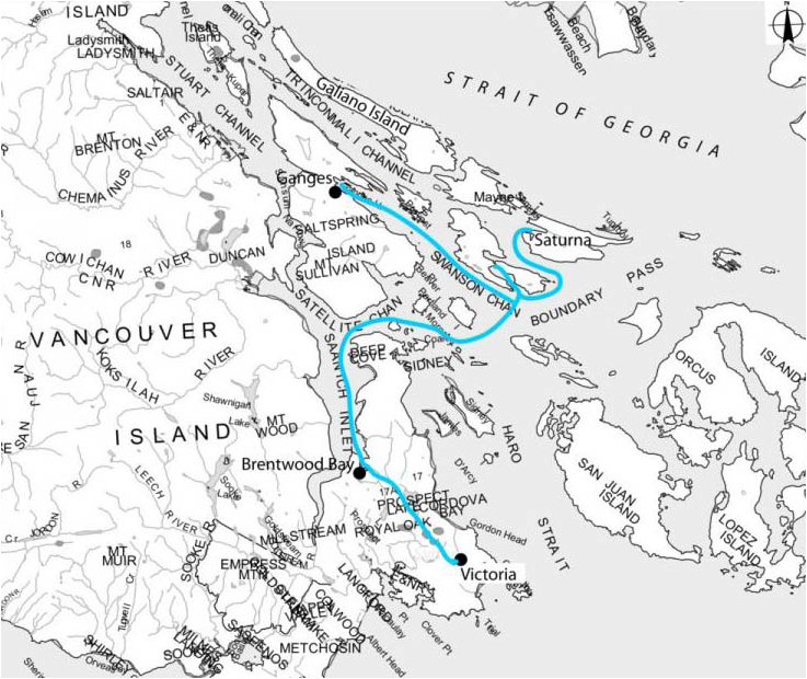 bc yacht charter map