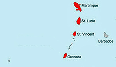 MAP St Lucia - Grenadines
