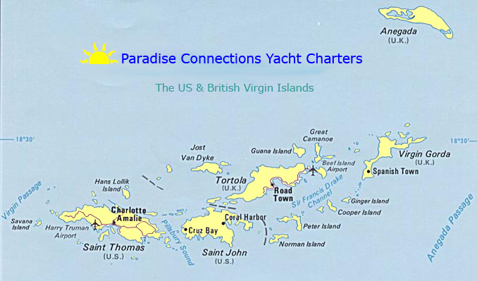 Map of the US & British Virgin Islands