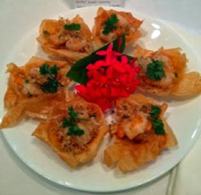Entrees - Crispy Coconut Shrimp Wonton